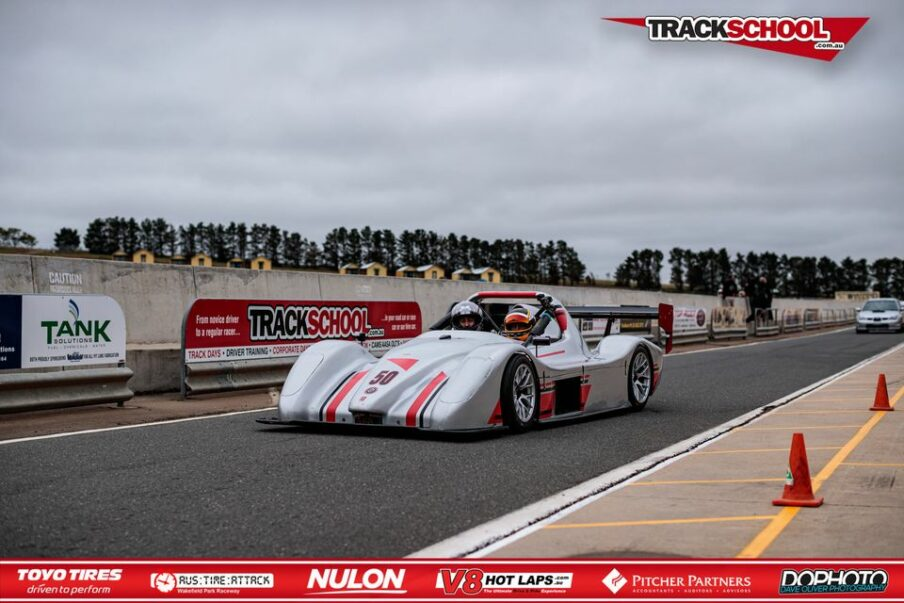 Trackschool Radical SR3 Car in Pit Lane